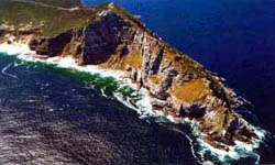 Aereal view of Cape Point